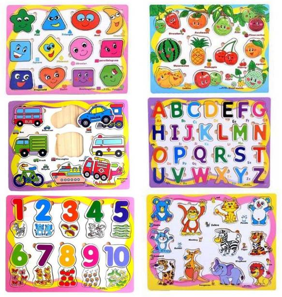 Univocean Educational Board of ABC, 123, Fruits, Numbers, Animals, Vehicles, Alphabet