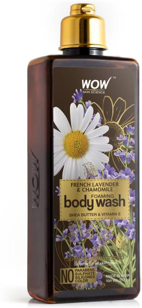 WOW SKIN SCIENCE French Lavender & Chamomile Foaming Body Wash