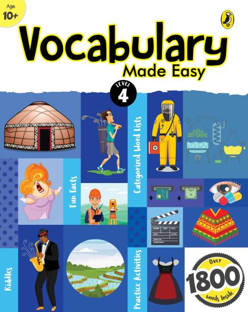 Vocabulary Made Easy Level 4: fun, interactive English vocab builder, activity & practice book with pictures for kids 10+, collection of 1800+ everyday words| fun facts, riddles for children, grade 4