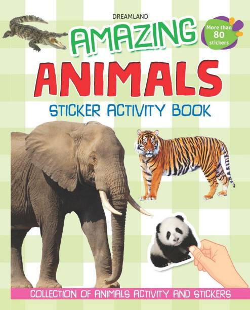 Amazing Animals - Sticker Activity Book - More than 100 Stickers, Collection of Animals Activity and Stickers