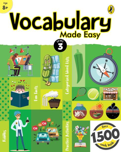 Vocabulary Made Easy Level 3: fun, interactive English vocab builder, activity & practice book with pictures for kids 8+, collection of 1500+ everyday words| fun facts, riddles for children, grade 3