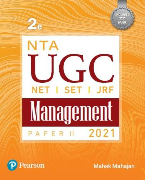 NTA UGC(NET/SET/JRF) Paper 2- Management | 2021 | Second Edition | By Pearson