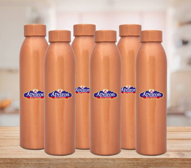 Apeiron Copper Water Bottle 1000 ml (Pack of 6) 1000 ml Bottle