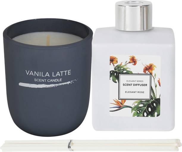 MINISO Vanila Latte,Elegant rose Diffuser Set