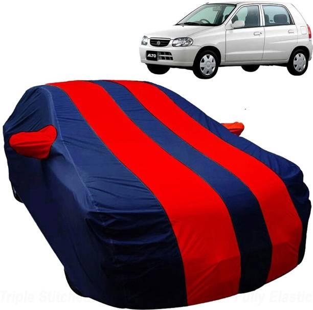 UK Blue Car Cover For Maruti Suzuki Alto (With Mirror Pockets)
