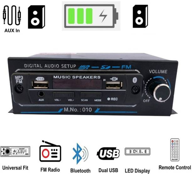 SHOPDAY Mp3 With Double USB Dancing Led Car Stereo BLUETOOTH, USB, MP3, SD-MMC, AUX Car Stereo 4440 Double IC Car Stereo