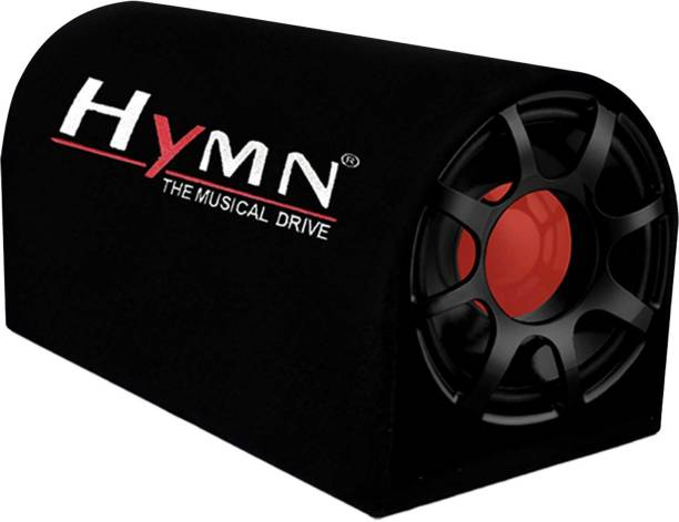 Hymn 3600W High Output for Crystal Clean Low Frequency Bass Audio Response for Vehicles (Sub-woofer with D Shape Enclosure) 8 inch Subwoofer Active Bass tube with In-Built Amplifier Subwoofer