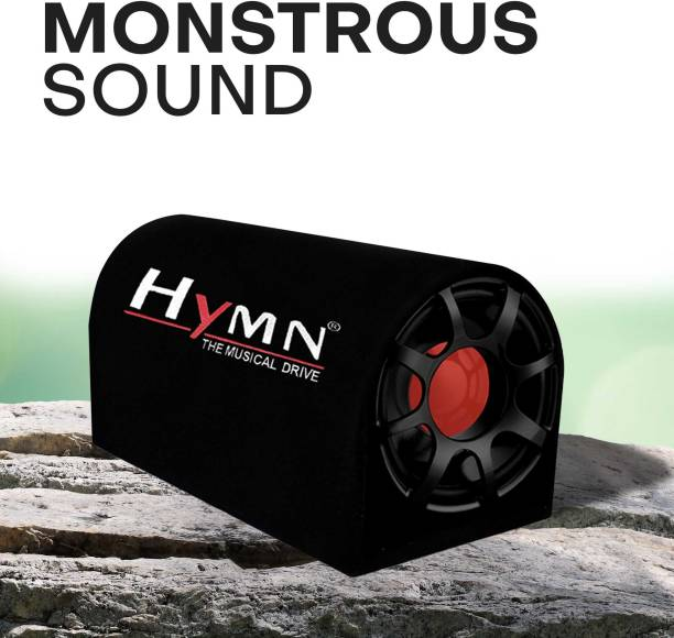 """Hymn 4400W High O/P for Crystal Clean Low Frequency Bass Audio Response for Vehicles (Sub-woofer with D Shape Enclosure) by GoMechanic 10"""" Inch Subwoofer Active Basstube with In-Built Amplifier Subwoofer"""