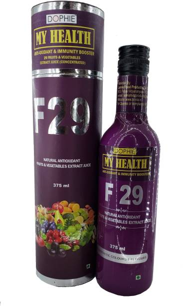 dophie MY HEALTH 29 FRUITS AND VEGITABLE EXTRACT JUICE ( CONCENTRATED) FOR IDEAL DAILY NUTERITION ,IMMUNITY BOOSTER 375ML
