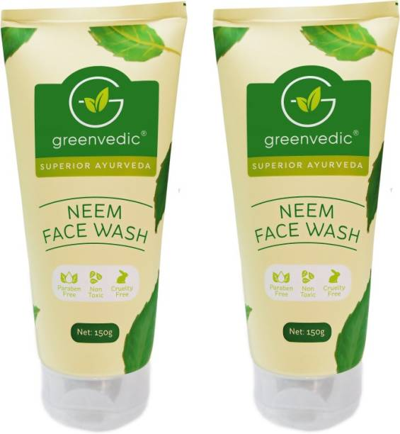 GreenVedic Neem  ( buy pack of 2 and get 40% off ) Face Wash