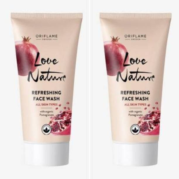 Oriflame Sweden Oriflame Love Nature Refreshing with Organic Pomegranate  (100 g) pack of 2 Face Wash