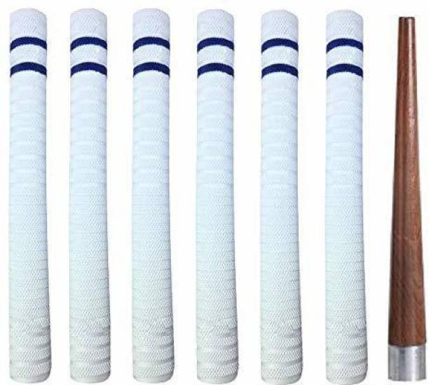 vnh Set of 6 Cricket Bat Handle Replacement Grips with a Grip Cone Contoured