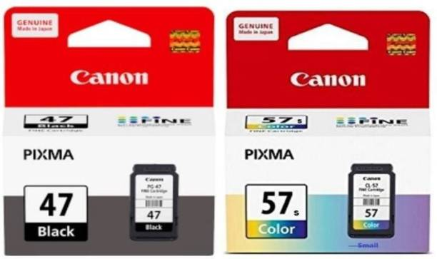 Canon 47 & 57 Small [SET OF 2] Tri-Color Ink Cartridge