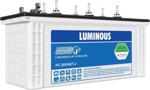 LUMINOUS 150 Ampere per hours(Ah) Tubular Jumbo Battery PowerCharge18042TJ Tubular Inverter Battery