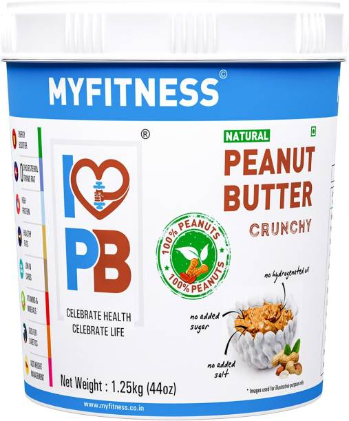 MYFITNESS Natural Peanut Butter Crunchy 1250 g