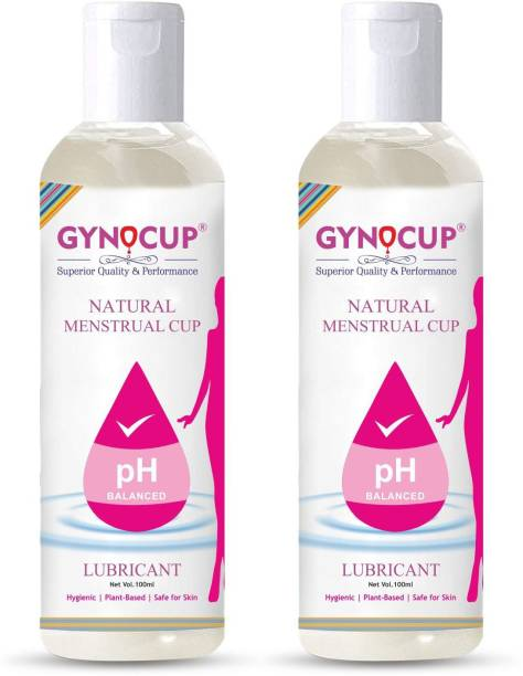 Gynocup Menstrual Cup Lubricant Water based & pH Balanced, hypoallergenic and safe for use, Helps to wear Menstrual Cup(Pack of 2) Lubricant
