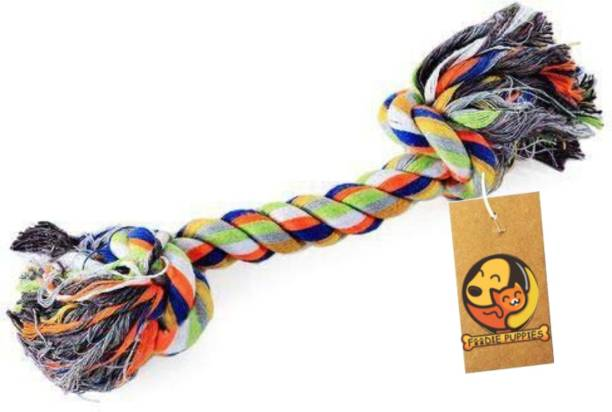 FOODIE PUPPIES Durable Cotton Chewable Rope Teething Playing Toy for Small Dogs Cotton Chew Toy, Tough Toy, Fetch Toy For Dog