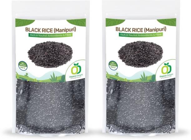 Organic Delight Black Rice from Manipur 1800 GM 2 Pack Black Black Rice (Full Grain, Raw)