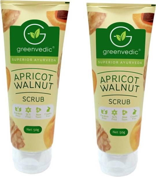 GreenVedic Apricot Walnut Face Scrub ( Buy Pack of 2 And Get 40% off ) Scrub