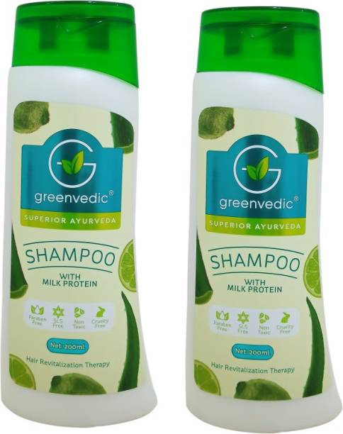 GreenVedic Milk Protein Shampoo ( Buy Pack of 2 And Get 40% off )