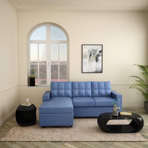 Godrej Interio Cyan Fabric 3 Seater  Sofa