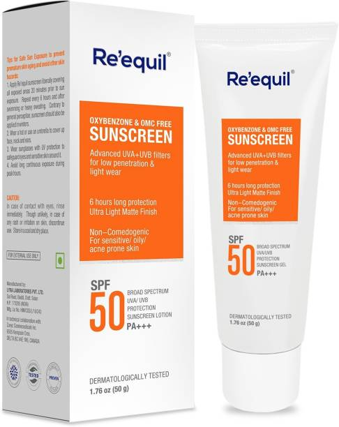 Re'equil Oxybenzone and OMC Free Sunscreen - SPF 50 PA+++