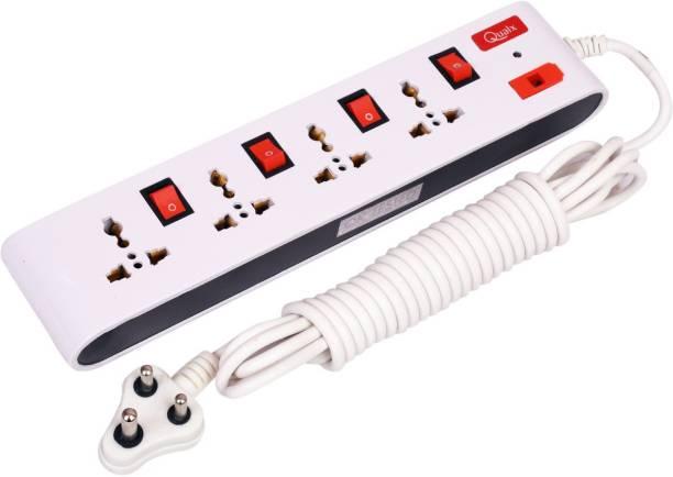 QUALX Universal Socket 4+4 Extension Boards Power Cord Length 4.5 4  Socket Extension Boards
