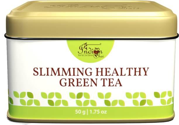 The Indian Chai Slimming Healthy Green Tea | Weight Loss Tea with Garcinia Cambogia, Terminalia Chebula | Wellness Herbal Tea Tin