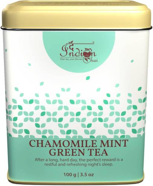 The Indian Chai Chamomile Mint Green Tea Chamomile Green Tea Vacuum Pack