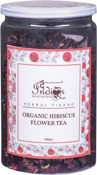 The Indian Chai Organic Hibiscus Flower Tea Hibiscus Infusion Tea Mason Jar