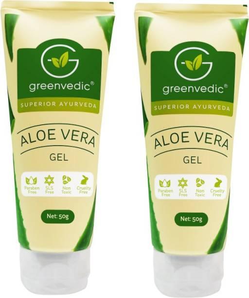 GreenVedic Aloe Vera Gel ( Buy pack of 2 And get 40% off ) Men & Women