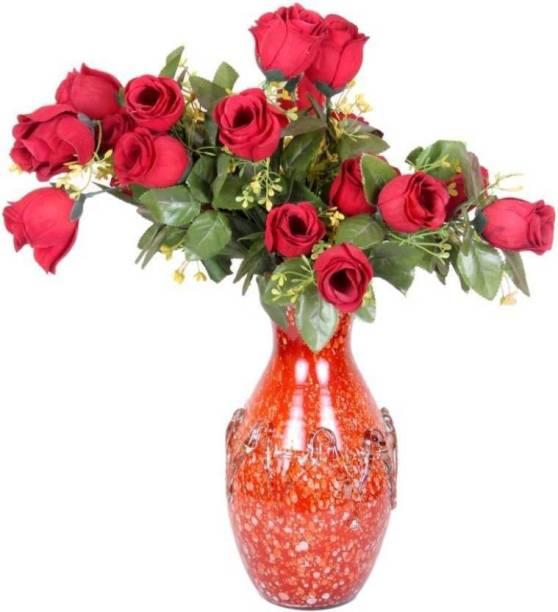 AFAST Designer Hand Decorative Glass Table Top Flower Pot Vase In New Shape Art -H20 Glass Vase