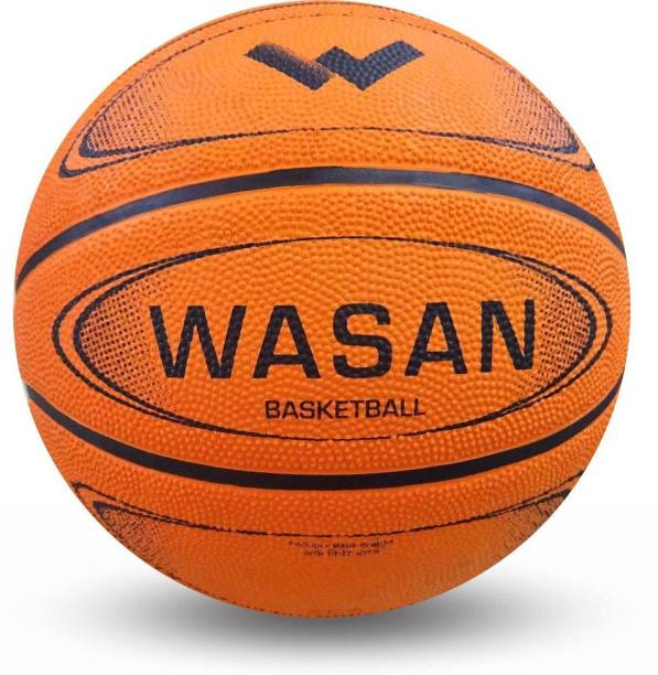 WASAN Rubber Basketball Size 7 (12 Years and Above) Basketball - Size: 7