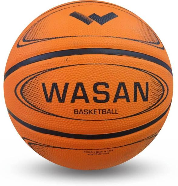 WASAN Rubber Basketball Size 5 (12 Years and Above) Basketball - Size: 5