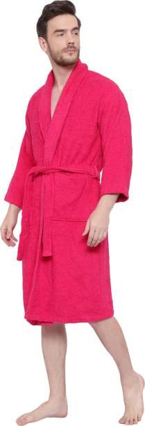 Cotton Trendy Pink Free Size Bath Robe