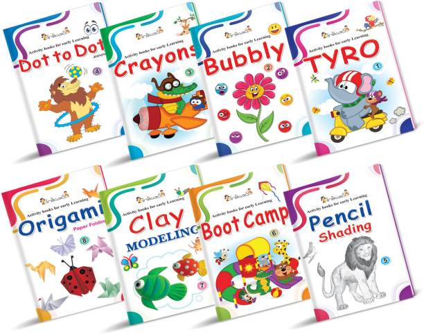InIkao Activity Books for Early Learning ; Set of 8 Activity Books for Early Learning