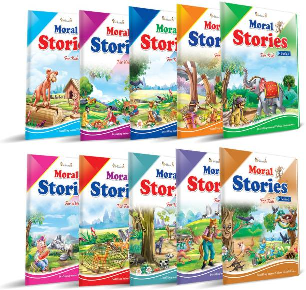 Story Books Set of 10 in English with 101 Moral Stories from Inikao - InIkao Moral Stories