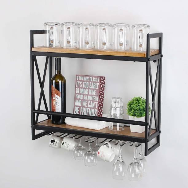 PRITI Iron Wine Rack