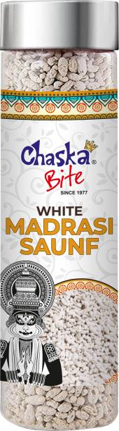 CHASKA BITE  Saunf Mukhwas Mouth Freshner Madrasi Saunf Pepper Mint Coated Good for Digestion  MINT Candy