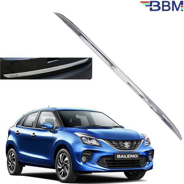 BBM Car Dicky Trim Garnish Silver Chrome Line Stainless Steel for Boot show compatible with Maruti Baleno Chrome Maruti Baleno Rear Garnish
