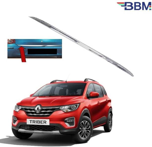 BBM Car Dicky Trim Garnish Silver Chrome Line Stainless Steel for Boot show compatible with Triber Renault Chrome Renault TT Rear Garnish