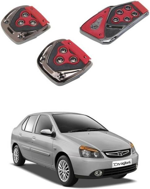 Qiisx 3 Pcs Non-Slip Manual Car Pedals kit Pad Covers Set Compatible with Tata Indigo CS Car Pedal