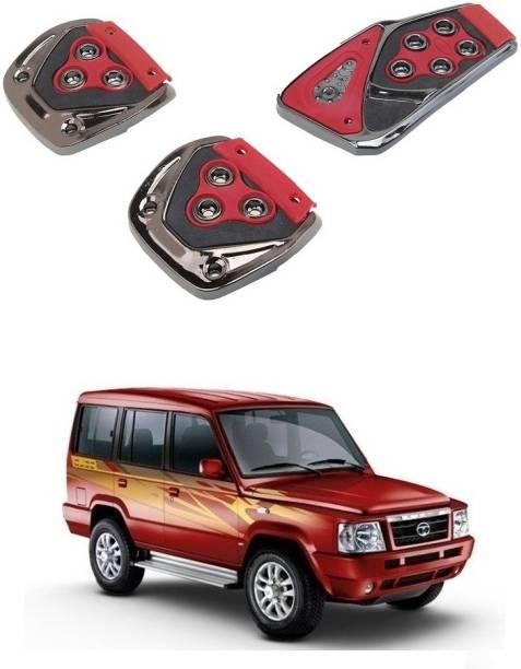 Qiisx 3 Pcs Non-Slip Manual Car Pedals kit Pad Covers Set Compatible with Tata Sumo Victa Car Pedal
