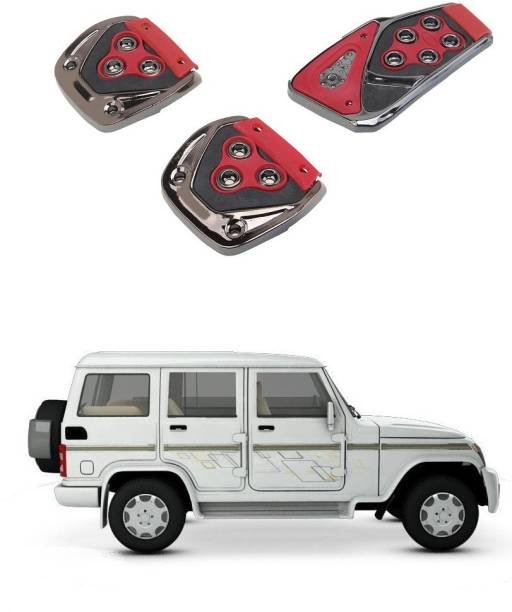 Qiisx 3 Pcs Non-Slip Manual Car Pedals kit Pad Covers Set Compatible with Mahindra Bolero Car Pedal