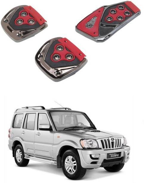 Qiisx 3 Pcs Non-Slip Manual Car Pedals kit Pad Covers Set Compatible with Mahindra Scorpio Car Pedal
