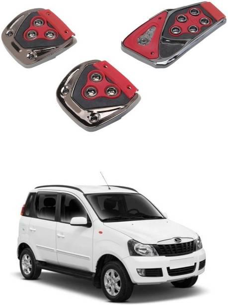 Qiisx 3 Pcs Non-Slip Manual Car Pedals kit Pad Covers Set Compatible with Mahindra Quanto Car Pedal