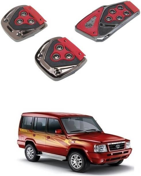Qiisx 3 Pcs Non-Slip Manual Car Pedals kit Pad Covers Set Compatible with Tata Sumo Car Pedal