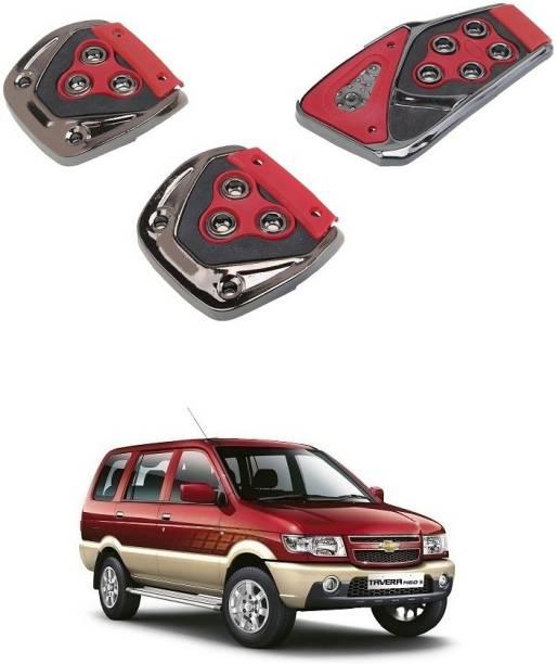 Qiisx 3 Pcs Non-Slip Manual Car Pedals kit Pad Covers Set Compatible with Chevrolet Tavera Car Pedal