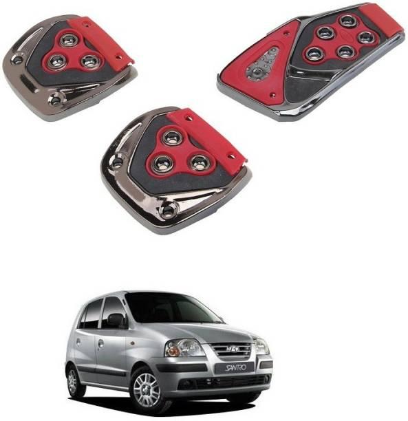 Qiisx 3 Pcs Non-Slip Manual Car Pedals kit Pad Covers Set Compatible with Hyundai Santro Car Pedal