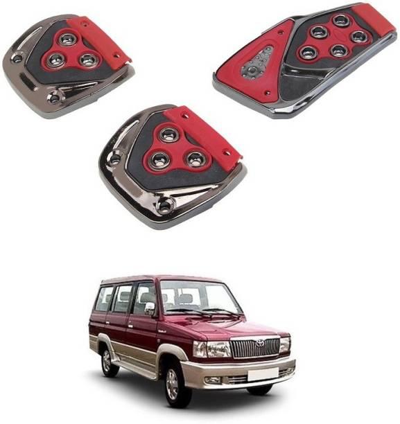 Qiisx 3 Pcs Non-Slip Manual Car Pedals kit Pad Covers Set Compatible with Toyota Qualis Car Pedal